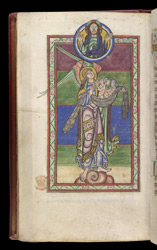 St Michael Holds Souls For the Last Judgement, in the 'Shaftesbury Psalter'